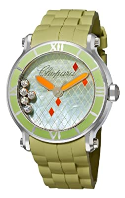 Chopard Women's 288524-3003 Happy Sport Green Dial Watch