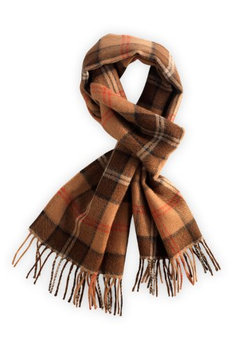 Fair Indigo Pure Alpaca Plaid Scarf