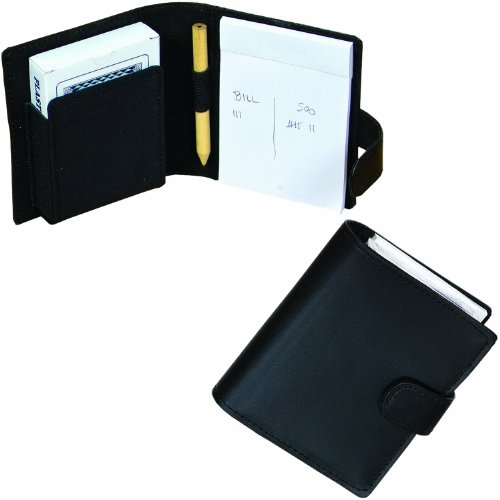 Bags for LessTM Playing Card Holder Black with Set of Cards and Paper/ Pen - 1