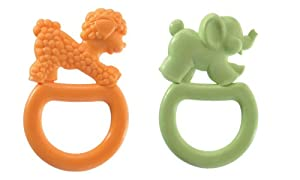 Vulli 2 Pack Vanilla Flavored Ring Teethe, Colors May Vary