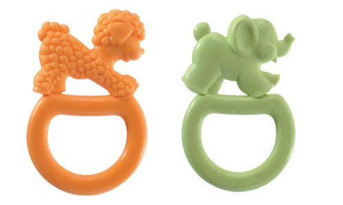 Vulli 2 Pack Vanilla Flavored Ring Teethe, Colors May Vary - 1