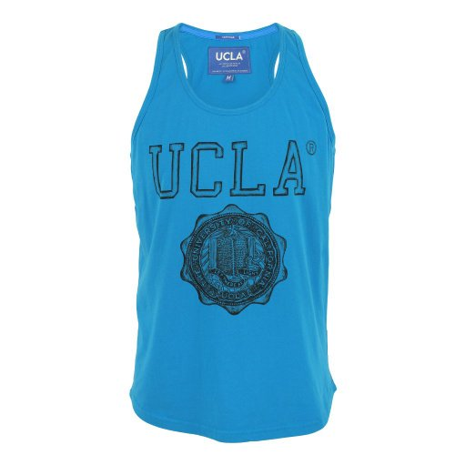 UCLA Mens Whitley Illustrated Print Vest Blue Small