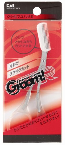 GroomR クシ付マユハサミ HC1722