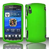 Cool Neon Green Premium Design Rubberized Feel Protector Hard Cover Case for Sony Ericsson Xperia Play  AT T VERIZON