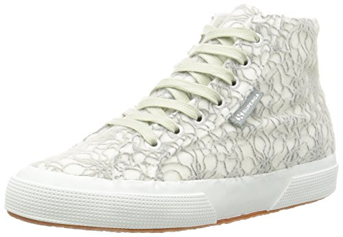 Superga 2795-Microfleece Crystalw, Scarpe Low-Top Donna, Grigio (Lt Grey/White), 37 EU