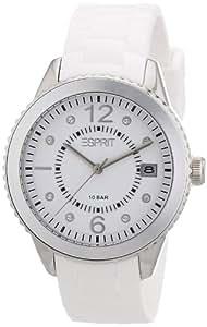 Esprit - ES105342002 - Montre Femme - Quartz Analogique - Cadran Blanc - Bracelet Silicone Blanc