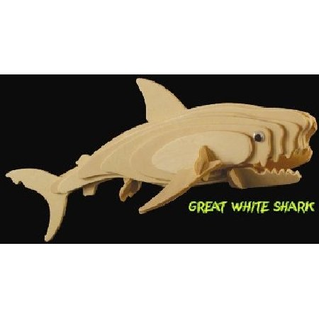 3D Wood JR Great White Shark Puzzle - 1