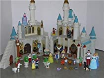 Big Sale Best Cheap Deals Disney Exclusive Cinderella's Castle Playset with 10 Disney Poseable Characters (Jasmine, Alladin, Sleeping Beauty, Prince Philip, Snow White, Prince Charming, Belle and Beast)