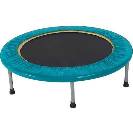 Golds-Gym-Mini-Trampoline-With-Durable-Steel-Frame-BLUE