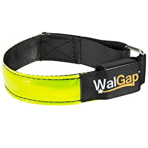 LED High Visibility Flashing Safety Armband Cycling Jogging Walking Reflective LED Armband (Yellow)