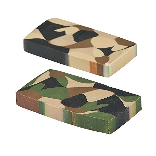Camouflage Basic Erasers (24 Pack) Rubber. Camo Eraser.