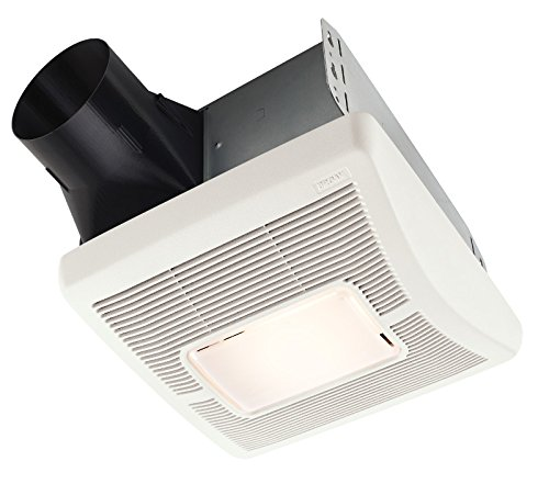 Broan AE110L Invent Energy Star Qualified Single-Speed Ventilation Fan with LED Light, 110 CFM 1.3 Sones (Attic Fan Energy Star compare prices)