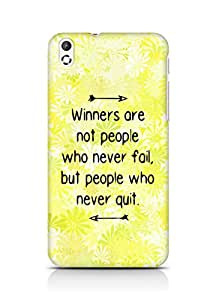 AMEZ but people who never quit Back Cover For HTC Desire 816