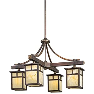 Amazon.Com: Kichler Lighting 49091CV Alameda Incandescent Indoor ... - Outdoor Lighting Chandeliers
