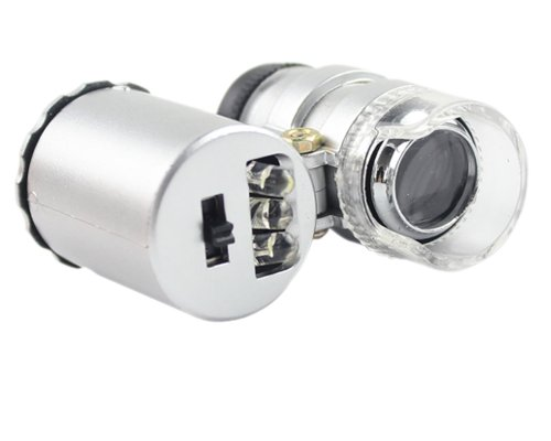 Enjoydeal Mini 60X Illuminated Jewelry PocketMicroscope Loupe Magnifier