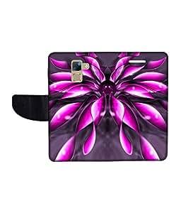 KolorEdge Printed Flip Cover For Huawei Honor 7 Multicolor - (1478-50KeMLogo11897Honor7)