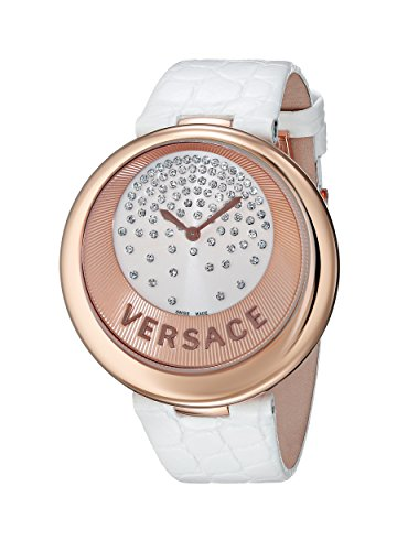 Versace Women's 87Q80D98F S001 Perpetuelle Rose-Gold Plated Diamonds Genuine Alligator Watch