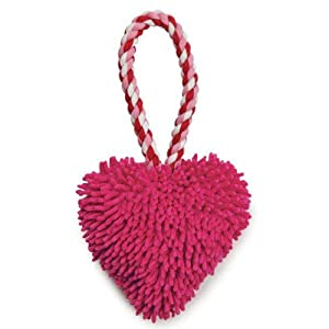 Zanies Heart Felt Moppy Tug Dog Toy, Pink