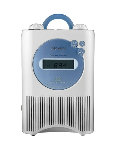 Sony ICF-CD73W AM/FM/Weather Shower CD Clock Radio - White