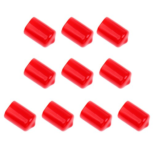 Segolike 10 Pieces Pool Cue Stick Tip Protective Cover Case Red - Pool Cue Accessories