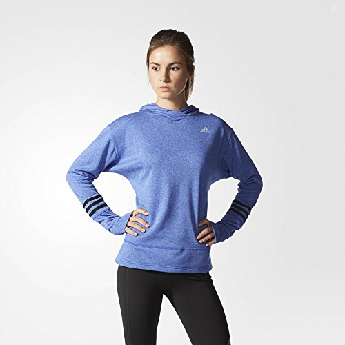 (アディダス)adidas Response Icon Hoodie Bold Blue ( Size L ) レディース パーカー トレーナー 長袖 ロングスリープ トップス [並行輸入品]