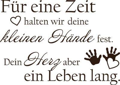 Wandtattoo Aufkleber Tattoo für Kinderzimmer Spruch Für eine Zeit halten wir (57x40cm//080 braun)