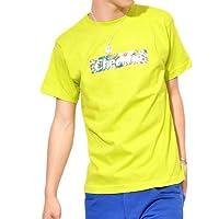 (コントライブ)CONTRIBE ボタニカル柄ボックスロゴプリント半袖Tシャツ