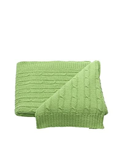 Mili Designs Braided Zig Zag Throw, Lime