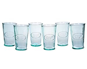 Amici Milk Glasses, 11-Ounce, Set of 6