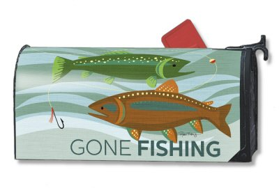 Fishing Summer Magnetic Mailbox Cover Outdoors Wildlife