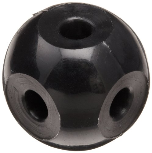 Molecular Models Black Plastic Octahedral Carbon Atom Center, 23mm Diameter (Pack of 10)