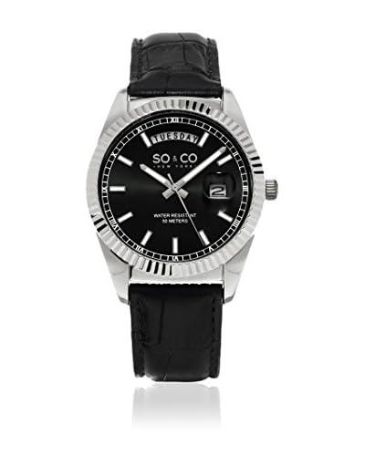 SO & CO New York Reloj de cuarzo  Negro 38 mm