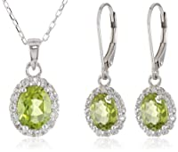 Sterling Silver Pendant Necklace and Earrings Jewelry Set from Chateau D'Argent Inc