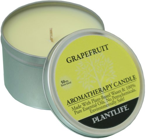 Grapefruit Aromatherapy Candle- Made with 100% pure essential oils - 6oz tin