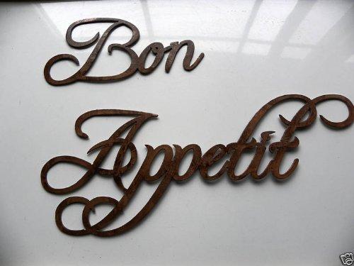 Bon Appetit Words Antique Copper Metal Wall Art