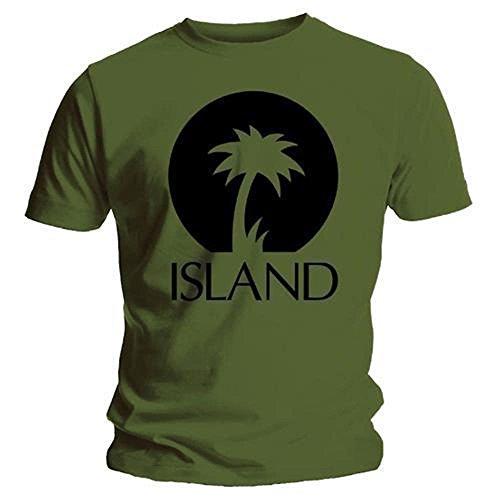 0612e16dc1cb Official Island Records Logo Two T Shirt, Mens, Heather · ISLAND RECORDS -  BLACK PALM LOGO - OFFICIAL MENS
