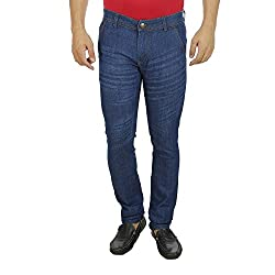 Mens Jeans Offer Low Price Deal Slim Fit Regular Waist (Blue Without Glow, 36)