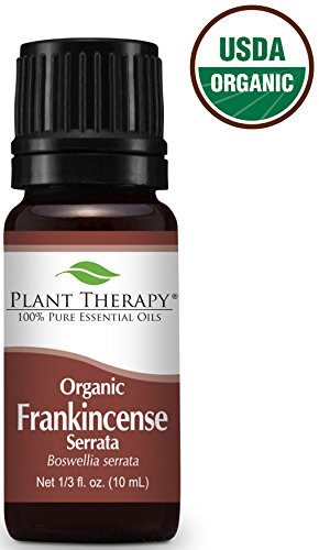 USDA Certified Organic Frankincense Serrata Essential Oil. 10 ml (1/3 oz). 100% Pure, Undiluted, Therapeutic Grade.
