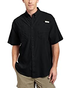 Columbia Men's Tamiami II Short Sleeve Fishing Shirt (Black, Large)