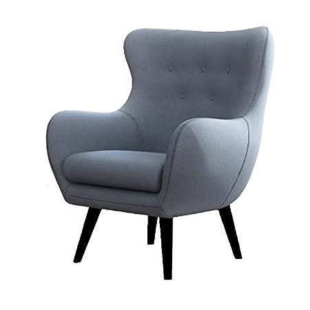 Viborg fauteuil scandinave en tissu bleu