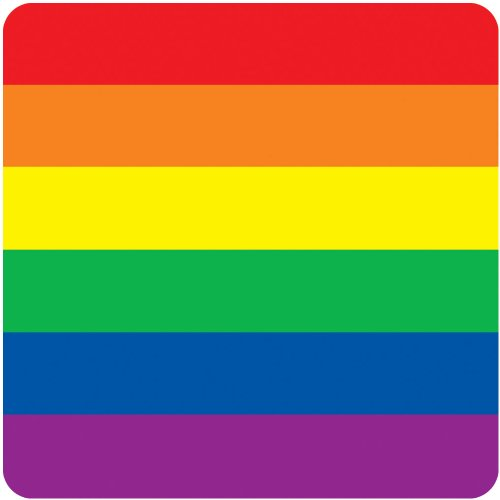 Rainbow Coasters Party Accessory (1 count) (8/Pkg) - 1
