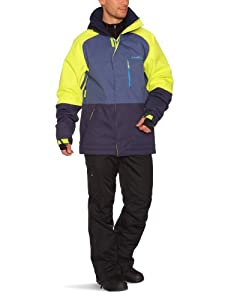 O'Neill Men's District Snow Jacket Hw   -  Poison Yellow, Small
