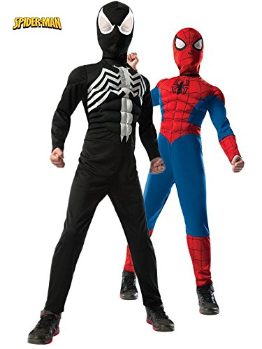 2-1 Ultimate Reversible Spiderman Costume for Kids MEDIUM (Spiderman Reversible Costume)
