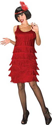 Morris Costumes Flapper red adult 6-8