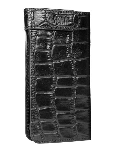 Best Price Sena 826316 Hampton Wallet Leather Case for iPhone 5 & 5s - 1 Pack - Retail Packaging - Croco Black