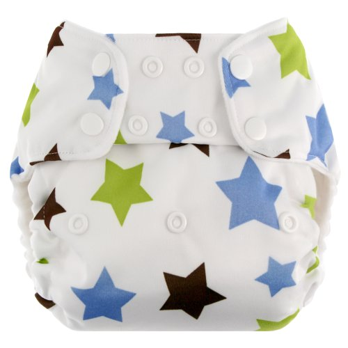 Blueberry One Size Deluxe Snaps, Stars
