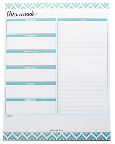 To-Do List and Weekly Planner Notepad- Teal (Teal Office Supplies compare prices)