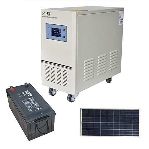 Suvpr 600W 12V Off-Grid Solar System Pure Sine Wave Solar Power System
