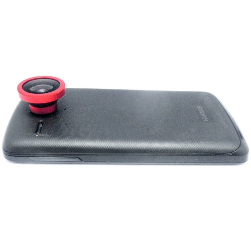 Docooler Detachable Magnetic 180° Telephoto Fisheye Lens Fish Eye For Mobile Phones Iphone 5 4 4S Samsung Htc Red (Red)