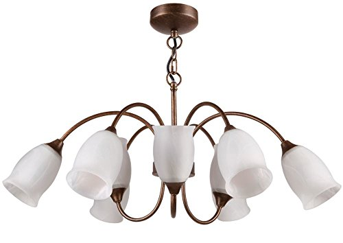 Philips 30920 15-Watt Tulip Chandelier Light (Brown Brush)